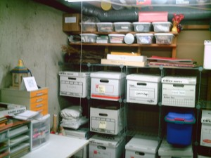 CRAFT ROOM: After - everything has its place. Label boxes and containers in categories of items. Clean and ready to use in a jiff!